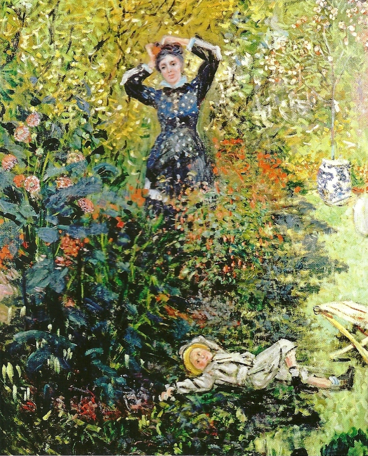Camille and Jean Monet in the Garden at Argenteuil by Claude Monet