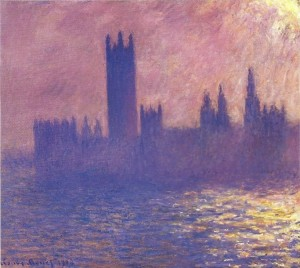 Monet Houses of Parliament Effect of Sunlight