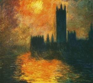 Monet Houses of Parliament Sunset