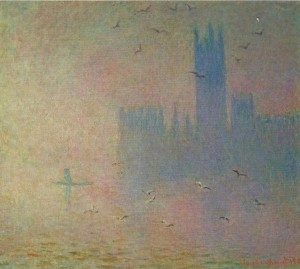 Monet Seagulls over the Houses of Parliament