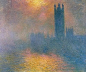 Monet The Houses of Parliament London with the Sun Breaking Through the Fog