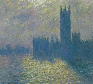 Monet The Houses of Parliament Stormy Sky