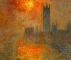 monet the houses of parliament sunset