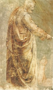 """Copy of a Figure from """"Tribute Money"""" by Masaccio"""