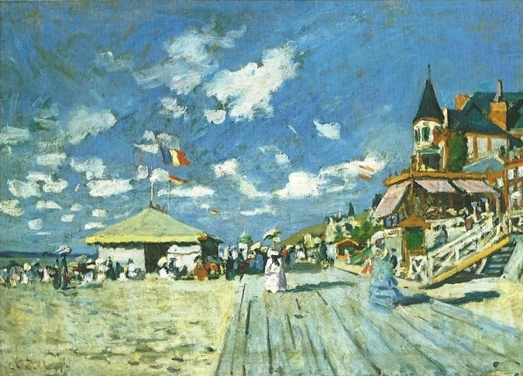 On the Boardwalk at Trouville