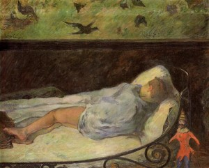 Young Girl Dreaming (Study of a Child Asleep)